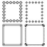 Decorative black frames. Set of four decorative black frames isolated on white background.EPS file available Royalty Free Stock Photos