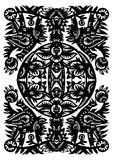 Decorative black pattern Royalty Free Stock Photo