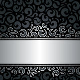 Decorative black & silver luxury vintage wallpaper background Royalty Free Stock Image