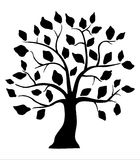 Decorative black tree Royalty Free Stock Photography