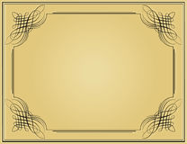 Decorative black vintage frame. In beige background Royalty Free Illustration