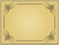 Decorative black vintage frame. In beige background Stock Photography