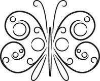 Decorative black and white butterfly Stock Photos