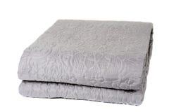 Decorative blanket isolated on white. Background Royalty Free Stock Photo
