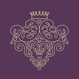 Decorative  blazon for design template. Stock Photography