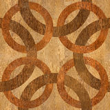 Decorative blended circles - seamless background. Interior Design pattern - Abstract decorative panels - wood texture Stock Image