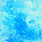 Decorative blue abstract painting for interior, illustration, ba Royalty Free Stock Images