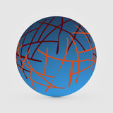 Decorative blue abstract spheres for graphic design. Vector illustration Stock Image