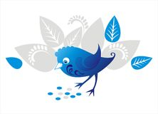 Decorative blue bird Stock Photos
