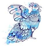 Decorative blue bird Stock Images