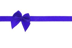 Decorative blue bow ribbon Royalty Free Stock Photo