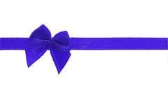 Decorative blue bow ribbon Royalty Free Stock Photo