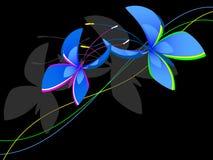 Decorative blue butterflies Stock Photography