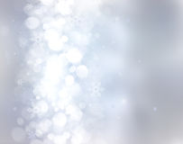 Decorative blue christmas background Stock Image