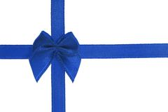 Decorative blue color bow Stock Photos
