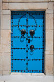Decorative blue door Royalty Free Stock Image