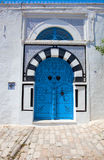 Decorative blue door Royalty Free Stock Photography