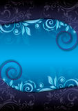 Decorative blue floral background Stock Photography