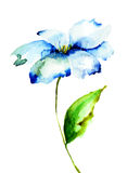 Decorative blue flower Stock Photography