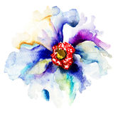 Decorative blue flowers Royalty Free Stock Images