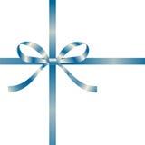 Decorative blue ribbon. Vector illustration Royalty Free Stock Photo