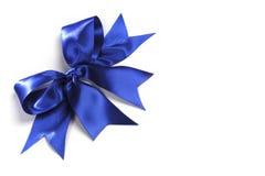 Decorative blue satin bow Royalty Free Stock Image