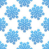 Decorative blue snowflakes seamless Royalty Free Stock Photos