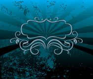 Decorative blue tone background. Decorative grunge blue tone background vector illustration