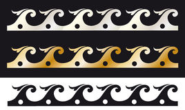 Decorative border. Illustration,  frame,  decorative coloured borders. See the rest in the series as well Stock Image