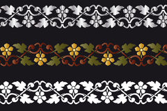 Decorative border. Floral  frame, coloured decorative borders See the rest in the series as well Royalty Free Stock Photo