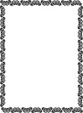 Decorative Border. Frame border with flora element Royalty Free Illustration