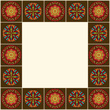 Decorative Border African Ornaments Stock Photo