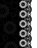 Decorative Border black-white_2 Royalty Free Stock Images