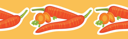 Decorative border with carrots. Illustration Stock Images