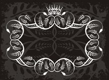 Decorative border with crown Royalty Free Stock Photos