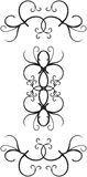 Decorative border designs. Black and White Ornate decorative borders - additional ai and eps format available on request Stock Photography