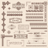 Decorative border elements Royalty Free Stock Image