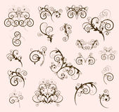 Decorative border elements Stock Photos