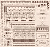 Decorative border elements Stock Image