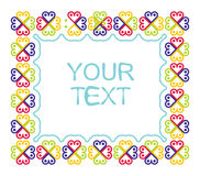 Decorative border frame with color flowr Stock Image