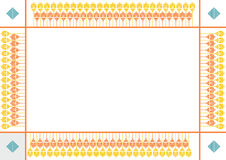 Decorative border frame Stock Image