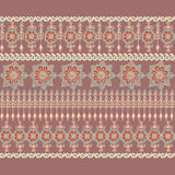 Decorative border in Indian style. Stock Image