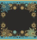 Set of laced  patterns wth decorative stars Stock Image