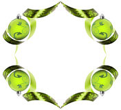Decorative border made of green ribbon swirls Stock Photography