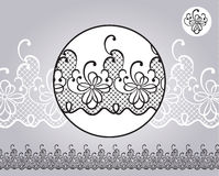 Decorative border with nice lace Royalty Free Stock Photos