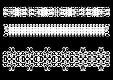 Decorative border ornament. Decorative vector border lines isolated on a black background royalty free illustration
