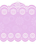 Decorative Border pink_center Stock Image