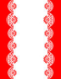 Decorative Border red-white_center Royalty Free Stock Photo