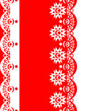 Decorative Border red-white Stock Images
