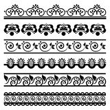 Decorative border set 1 Stock Photography